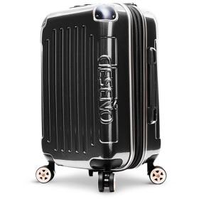 DESENO スーツケース LEGEND3 レジェンド3 BLACK ブラック 黒 大容量 デセノ ブランド ジッパータイプ キャリーバック スーツケース 旅行バック (S)