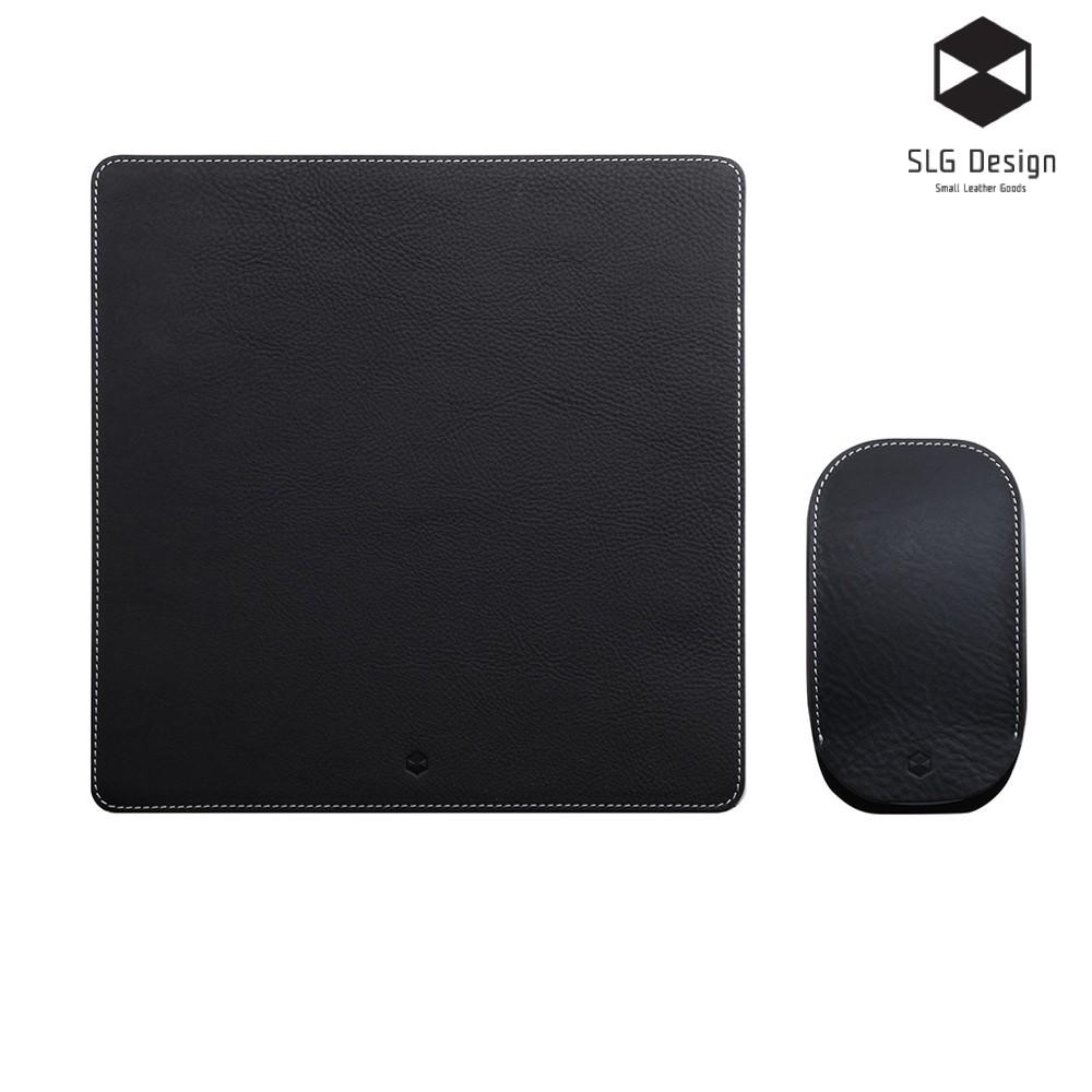 【SLG Design】D6 IMBL 頂級真皮 收納套 & 墊組-黑(Magic Mouse)[台灣代理]