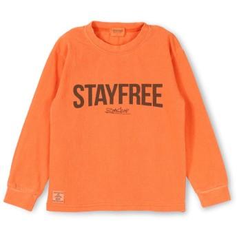 (ラッドチャップ) RADCHAP ロゴプリント 長袖 Tシャツ 130cm オレンジ