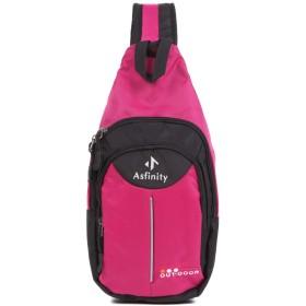 Asfinity ワンショルダー バッグ ボディバッグ コンパクト 斜め掛け レディース メンズ 全5カラー (ピンク)