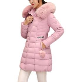女性のダウンジャケット、三番目の店 女 フード付き アウトレット ロングシックファーカラー コットン パーカー スリム ウォームコート