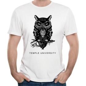 メンズクラシック歴史テンプル大学Tシャツ