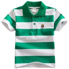 [ユリカー] ポロシャツ 男の子 襟付き 目立つシャツ シャツ 子供服 キッズ Tシャツ 半袖 綿 トップス ジュニア ボーダー 通園 カジュアル 夏物 ボーイズ ゆったり 写真通りC6