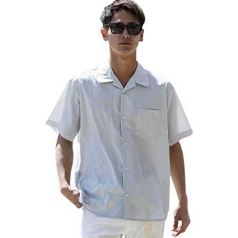 (アドミックス アトリエサブメン) ADMIX ATELIER SAB MEN メンズ シャツ 半袖 T Cストレッチオープンカラー半袖シャツ 02-04-8582 48(M) Lグレー(12)