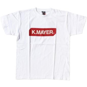 (クリフメイヤー) KRIFF MAYER KRIFF BOX 半袖 ブランドロゴ Tシャツ プリントTシャツ 半袖Tシャツ クルーネック トップス ロゴプリント クリフメイヤー メンズ レディス カジュアル (XL, ホワイト)