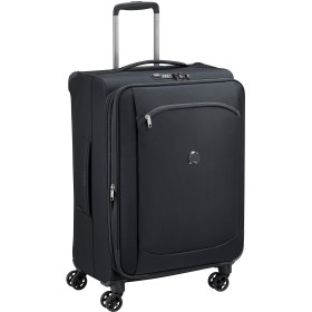 Delsey デルセー ソフトスーツケース mサイズ キャリーケース キャリーバッグ 中型 容量拡張可能 超軽量 MONTMARTRE AIR 2.0 5年国際保証 74L&ブラック