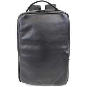 LEEL(リール)GRAIN LEATHER SQUARE BACKPACK (BLACK)