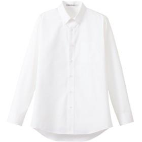 [フェイスミックス] FACE MIX 【メンズストライプ調温長袖シャツ】快適な温度をキープ《051-FB5030M》 (LL, 15ホワイト)