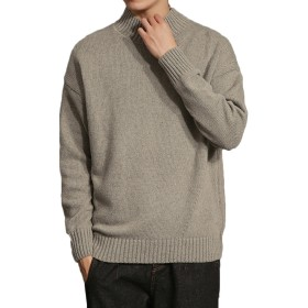 メンズ タートル ネック ニット カジュアル セーター Glestore(グラストア)タイプ2グレーXXL