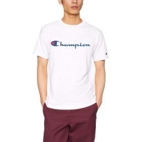 CHAMPION チャンピオン ロゴ プリント T シャツ 半袖 S ホワイト メンズ