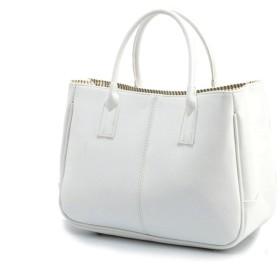 Msy yien レディース ハンドバッグ 2WAY PUレザーシンプル 単肩バッグ カジュアルファッションハンドメイド 大容量 ハンドバッグ (ホワイト)