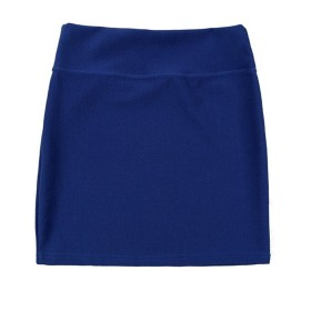 Anjelly タイトスカート シンプル スリムフィット ミニスカート ストレッチ素材 (ネイビー)