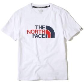 (ノースフェイス) THE NORTH FACE ホワイトラベルレトロロゴ半袖ラウンドティー 旅行日常のシャツ 男性/ティー&シャツスポーツTシャツレディース半袖Tシャツ長袖Tシャツ (100(L), WHITE) [並行輸入品]