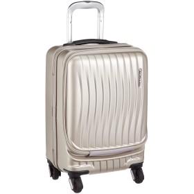 [フリクエンター] スーツケース ファスナー CLAM ADVANCE(クラムアドバンス) ストッパー付4輪キャリー フロントオープン 消音/静音キャスター 1-216 34L 46 cm 3.6kg シャンパンゴールド