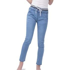 【hkukat】レギンス デニム ジーンズ ウエストゴム レディース ウエストゴムパンツ スキニー メンズ 大きいサイズ XL 2L 3L 4L 5L 6L ビッグサイズ プラスサイズ 女性 男性 ハイウエスト ズボン スキニーパンツ (ブルー, M(27))