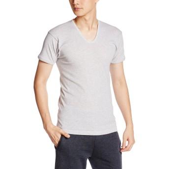 [グンゼ] インナーシャツ 快適工房 綿100% 半袖 U首 KH5016 メンズ グレーモク 日本L (日本サイズL相当)