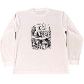 不思議の国のアリス ドライ Tシャツ 水パイプ 芋虫 グッズ 水煙草 大麻 ロングTシャツ ロンT