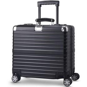 TABITORA(タビトラ) スーツケース 小型 超軽量 アルミフレーム キャリーバッグ 機内持ち込み ビジネス出張 TSAロック 静音 8輪 (ss, ブラック)