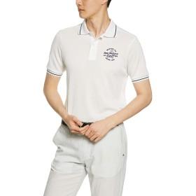 [ニューバランス ゴルフ] [メンズ] 半袖 ポロシャツ カチオンスパン カノコ (吸汗速乾性) / 012-9160008 030_ホワイト 日本 5 [L] (日本サイズL相当)