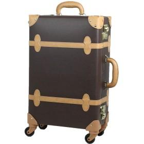 MOIERG(モアエルグ) キャリーバッグ 3年保証 キャリーケース スーツケース 軽量[71-55062-44](S, ブラウン×ベージュ)