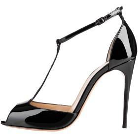 [Kolnoo] レディースセニョーラスタイル10センチのハイヒールはバックルストラップパーティーファッションドレス、靴パンプス 28.5cm