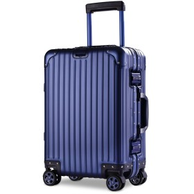 【XDJ Life】 スーツケース アルミマグネシウム合金 キャリーバッグ ダブルキャスター・静音 キャリーケース TSAロック搭載 フレームタイプ ドイツ製カバー付き 軽量 機内持込