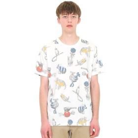 (グラニフ) graniph ソフト 総柄 Tシャツ ボンボン アニマルズ (ホワイト) メンズ レディース S (g01) (g14)