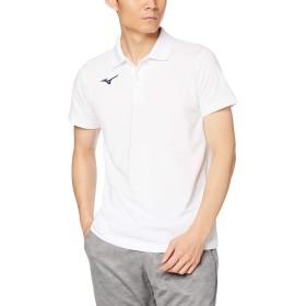 [Mizuno] トレーニングウェア ポロシャツ 半袖 スタンダード 32MA9195 ホワイト×ネイビー 日本 L (日本サイズL相当)