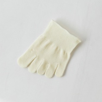 [Tabio]タビオ ウール重ね履き用つま先五本指ソックス【上質ウールの5本指】 22.0~24.0cm 日本製 オフホワイト