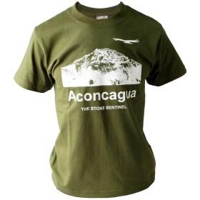 アコンカグア 半袖コットン Tシャツ 厚手5.6oz (M, 緑)