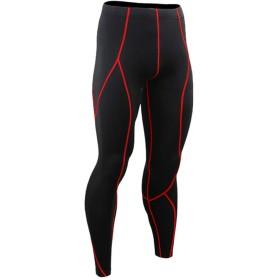 Jearey ランニングウェア メンズ コンプレッションタイツ ロング ストレッチパンツ スポーツタイツ 大きいサイズ オールシーズン UVカット 防臭 吸汗 速乾
