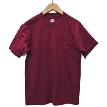 (ヘインズ) HANES BEEFY TEE POCKET ヘインズ メンズ ポケットTシャツ 5190p ビーフィー [並行輸入品] (M, マルーン)