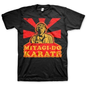 Officially Licensed Karate Kid Miyagi Do Karate 3XL,4XL,5XL Mens T-Shirt (Black), 3X-Large