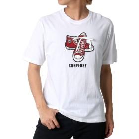 [コンバース] Tシャツ 刺繍 ロゴ 半袖 メンズ ホワイト LL
