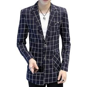 [FOMANSH] ジャケット メンズ 2つボタン ロング丈 スリム ビジネス 大きいサイズ スーツジャケット テーラードジャケット 春秋
