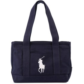 [ポロ ラルフローレン]POLO Ralph Lauren RAS10153A Medium Tote NAVY WHITE [並行輸入品]