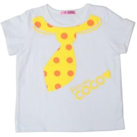PRINCESS COCO ドットネクタイTシャツ キッズ~レディース (04:XL(レディース), ホワイト)
