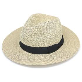 ナチュラルな雰囲気の麦わら帽子 被るだけでドレッシーな印象 ペーパーブレードMANNISHつば広ハット らくだ