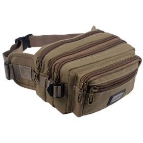Semiga ウエストバッグ ウエストポーチ 大容量 5ポケット メンズ ヒップバック ウォーキングポーチ ボディバッグ アウトドア