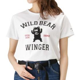 ZOOMAC(ズーマック) プリントTシャツ 半袖Tシャツ クルーネックTシャツ EJ193-WC158 レディース ホワイト:M
