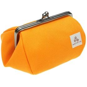 watona 帆布がま口 化粧ポーチ Mサイズ (オレンジ)