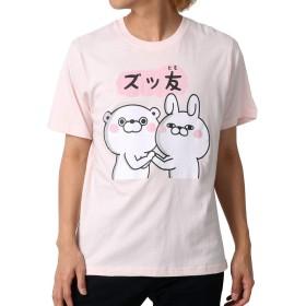 [ヨッシースタンプ] Tシャツ プリント 半袖 メンズ 柄4:(ボディ:ピンク/プリント:ズッ友) L:(身丈68cm 肩幅44cm 身幅51cm 袖丈24cm)