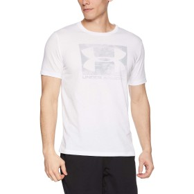 [アンダーアーマー] ボックス スポーツスタイル ショートスリーブ(ライフスタイル/Tシャツ) 1329581 メンズ WHT/WHT/MGA 日本 XL (日本サイズXL相当)