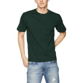 [ヘインズ] ビーフィー Tシャツ BEEFY-T 1枚組 綿100% 肉厚生地 ヘビーウェイトT 生地が丈夫で肌になじむ メンズ ダークグリーン 日本 L (日本サイズL相当)