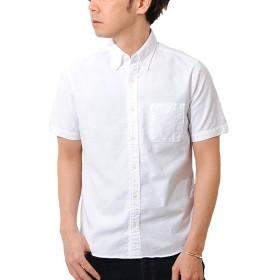 ciao (チャオ) 日本製 オックスフォード ボタンダウン 半袖 シャツ (M, 10.WHITE)