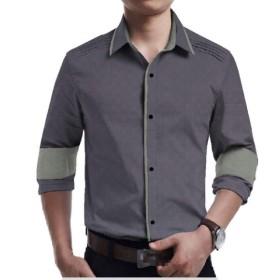YAXINHE メンズビッグ&トールカラーコンパスレギュラーフィットビジネスシャツシャツ 18 2XL