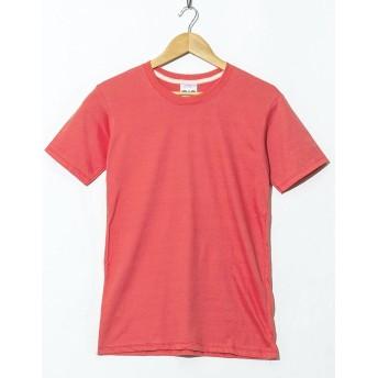 (ファロ) FALO クルーネック 無地 Tシャツ XXLサイズ 21. サーモンピンク fut-001-pink3-XXL