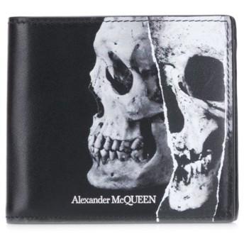Alexander McQueen スカル 二つ折り財布 - ブラック