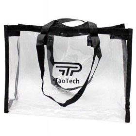 【TaoTech】 透明バッグ ビニールバッグ ストートバッグ プールバッグ ショルダーバッグ 2way スパバッグ 防水 大容量 クリアバッグ エコ (15L/クリア)