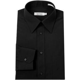 (ビジネススタイル アルフ) businessstyle alfu 紺ワイシャツ 黒ワイシャツ 長袖ワイシャツ メンズ ワイシャツ Yシャツ ドレスシャツ ワイシャツ 無地 カッターシャツ 制服/al9-7-9-1-5L-49-88-black-r